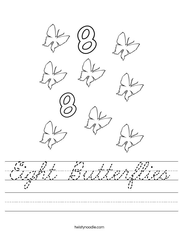 Eight Butterflies Worksheet