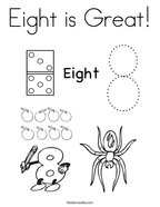 Eight is Great Coloring Page