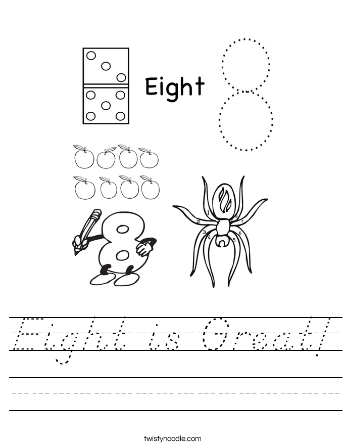 Eight is Great! Worksheet