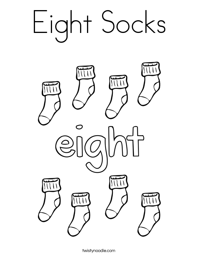 picture of socks coloring pages - photo#25