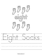 Eight Socks Handwriting Sheet