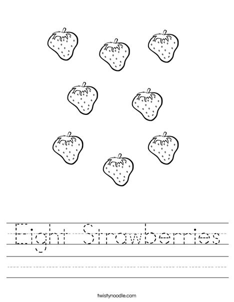 Eight Strawberries Worksheet