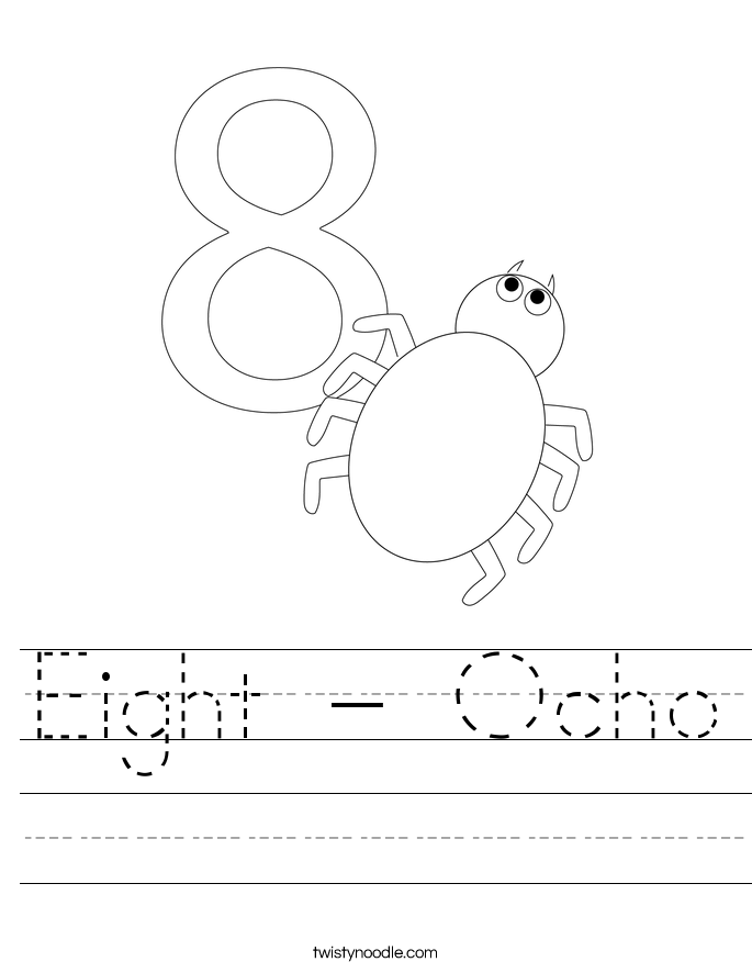 Eight - Ocho Worksheet