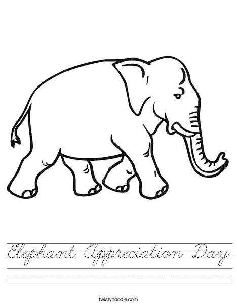 Elephant Walking Worksheet