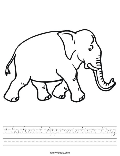Elephant Walking Worksheet
