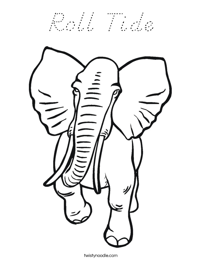 Roll Tide Coloring Page
