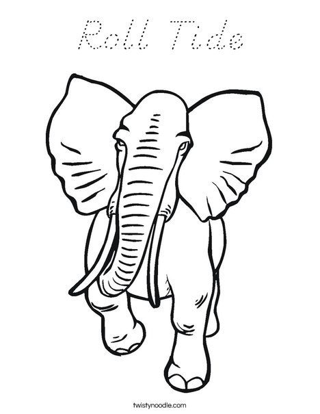 Big Elephant Coloring Page
