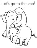 Let's go to the zoo! Coloring Page