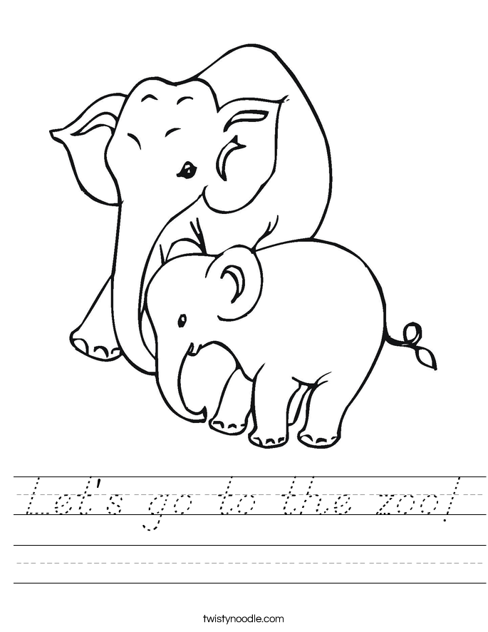 Let's go to the zoo! Worksheet