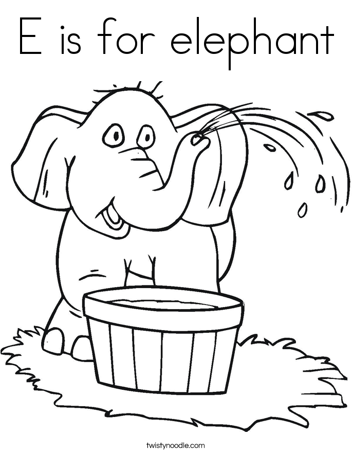 e elephant coloring pages - photo#8