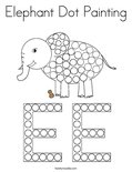 Elephant Dot Painting Coloring Page