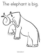 The elephant is big Coloring Page