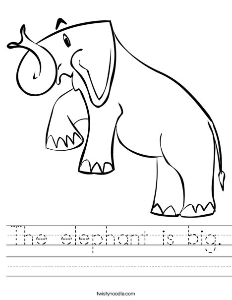 Elephant for Zoo Book Worksheet