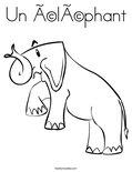 Un éléphantColoring Page