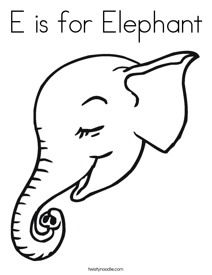 e elephant coloring pages - photo#20