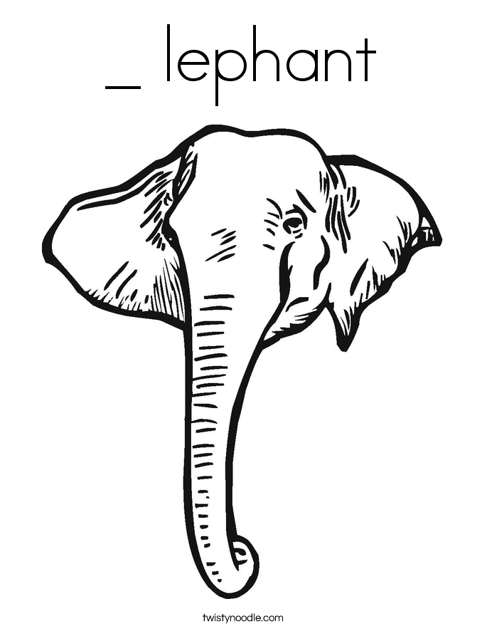 Elephant Head Coloring Page Color Cute Baby