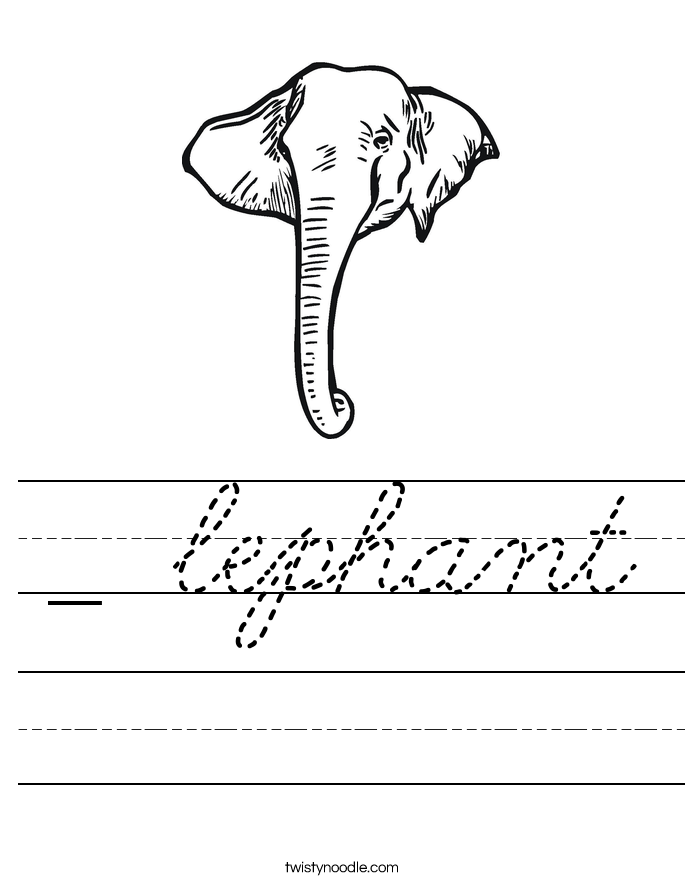 _ lephant Worksheet