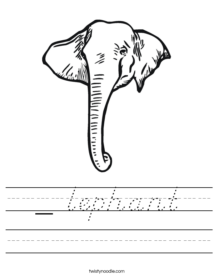 _ lephant Worksheet