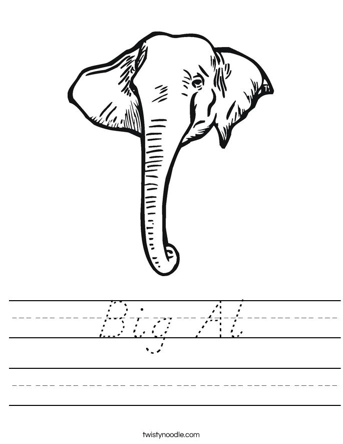 Big Al Worksheet