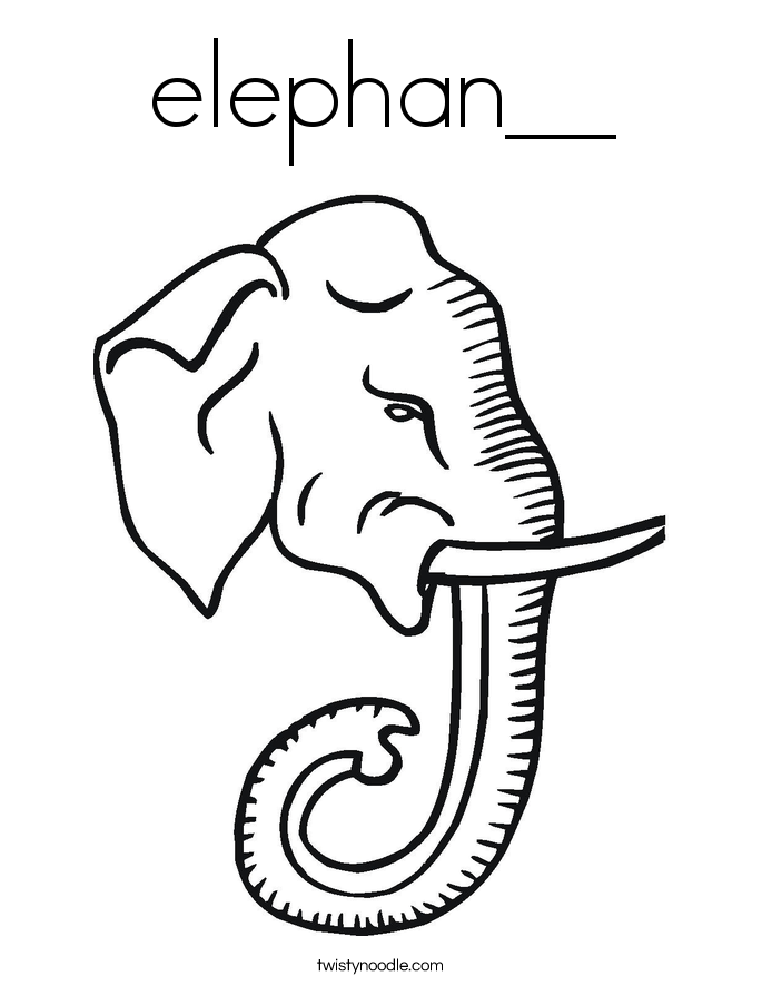 elephan__ Coloring Page