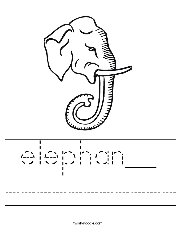 elephan__ Worksheet