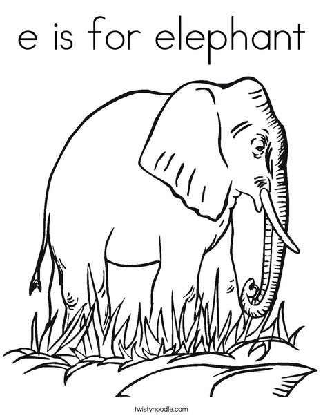 e elephant coloring pages - photo#23