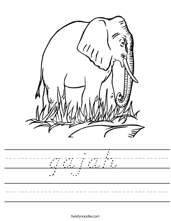 gajah Worksheet