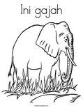 Ini gajah Coloring Page