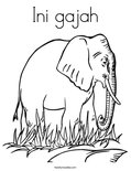 Ini gajahColoring Page
