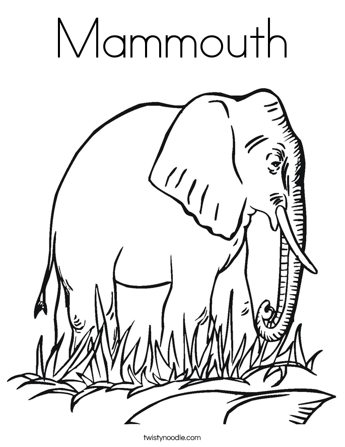 Mammouth Coloring Page