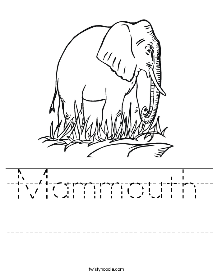 Mammouth Worksheet