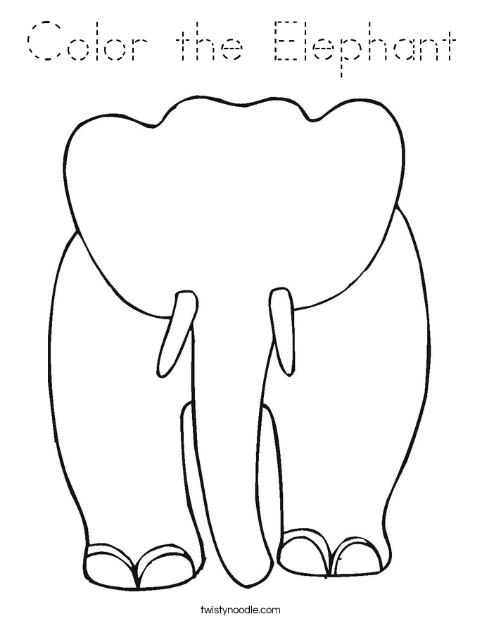 Color the Elephant Coloring Page