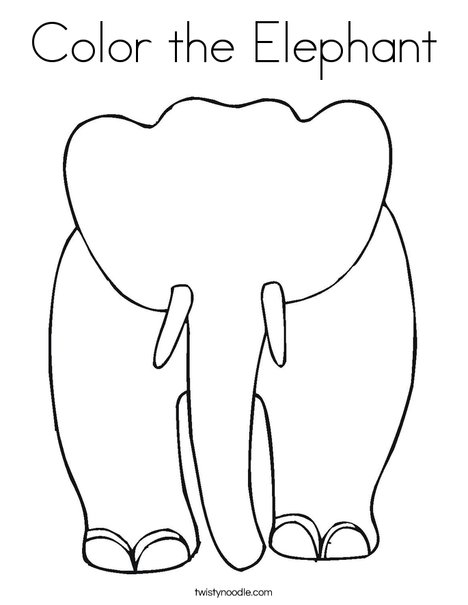 Blank Elephant Coloring Page