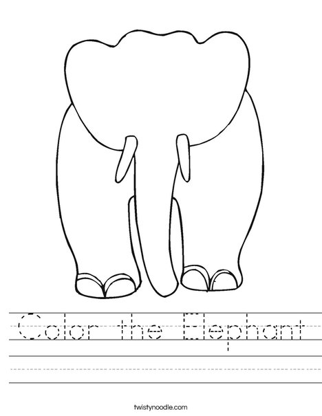 Blank Elephant Worksheet