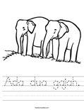 Ada dua gajah. Worksheet