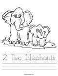 2 Two Elephants Worksheet
