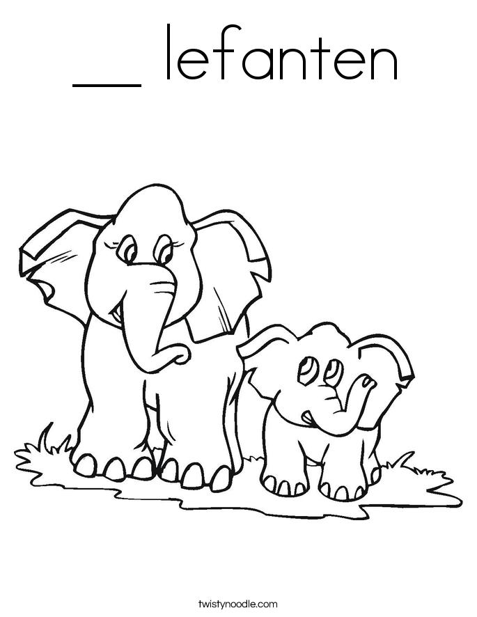 __ lefanten Coloring Page
