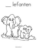__ lefantenColoring Page