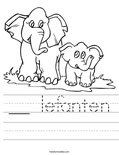 __ lefanten Worksheet