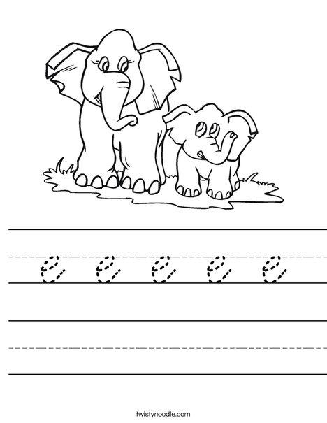 How many elephants? Worksheet
