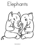 Elephants Coloring Page