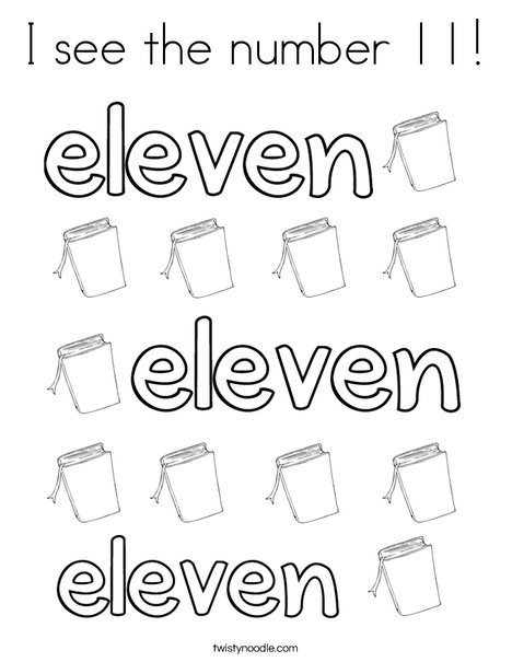 Eleven Books Coloring Page