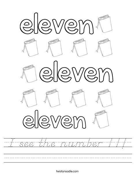 Eleven Books Worksheet