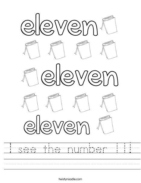 Eleven Books Worksheet