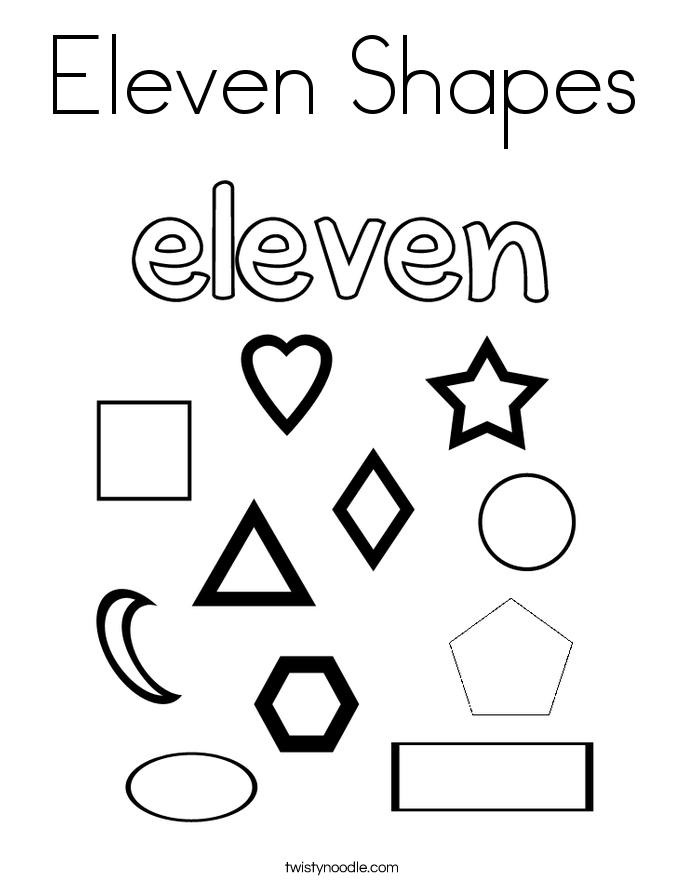 Eleven Shapes Coloring Page