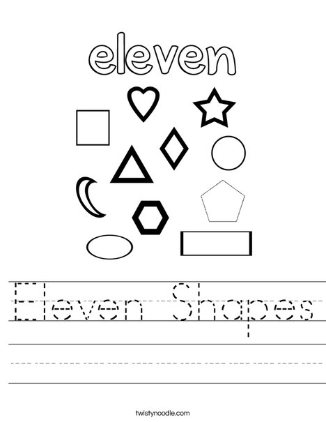 Eleven Shapes Worksheet