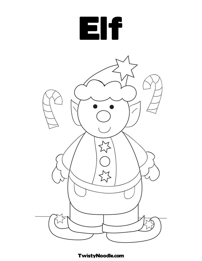 Coloring Elf Pattern Coloring Pages