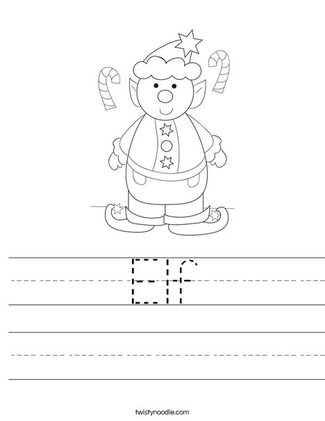 Elf Worksheet