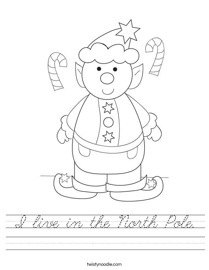 I live in the North Pole. Worksheet