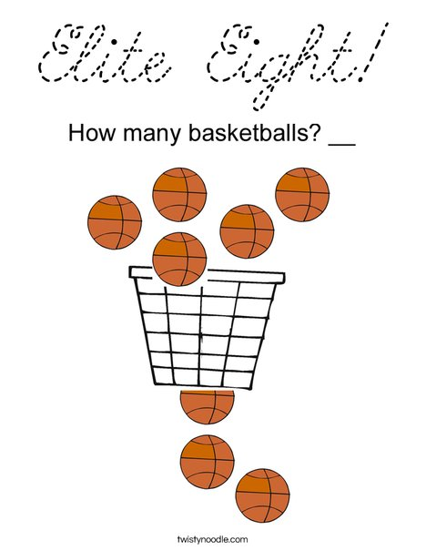 Elite Eight! Coloring Page